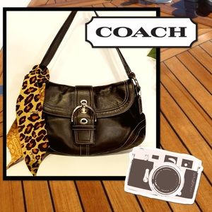 """Wild Side"" COACH SoHo Signature Flap Hobo"